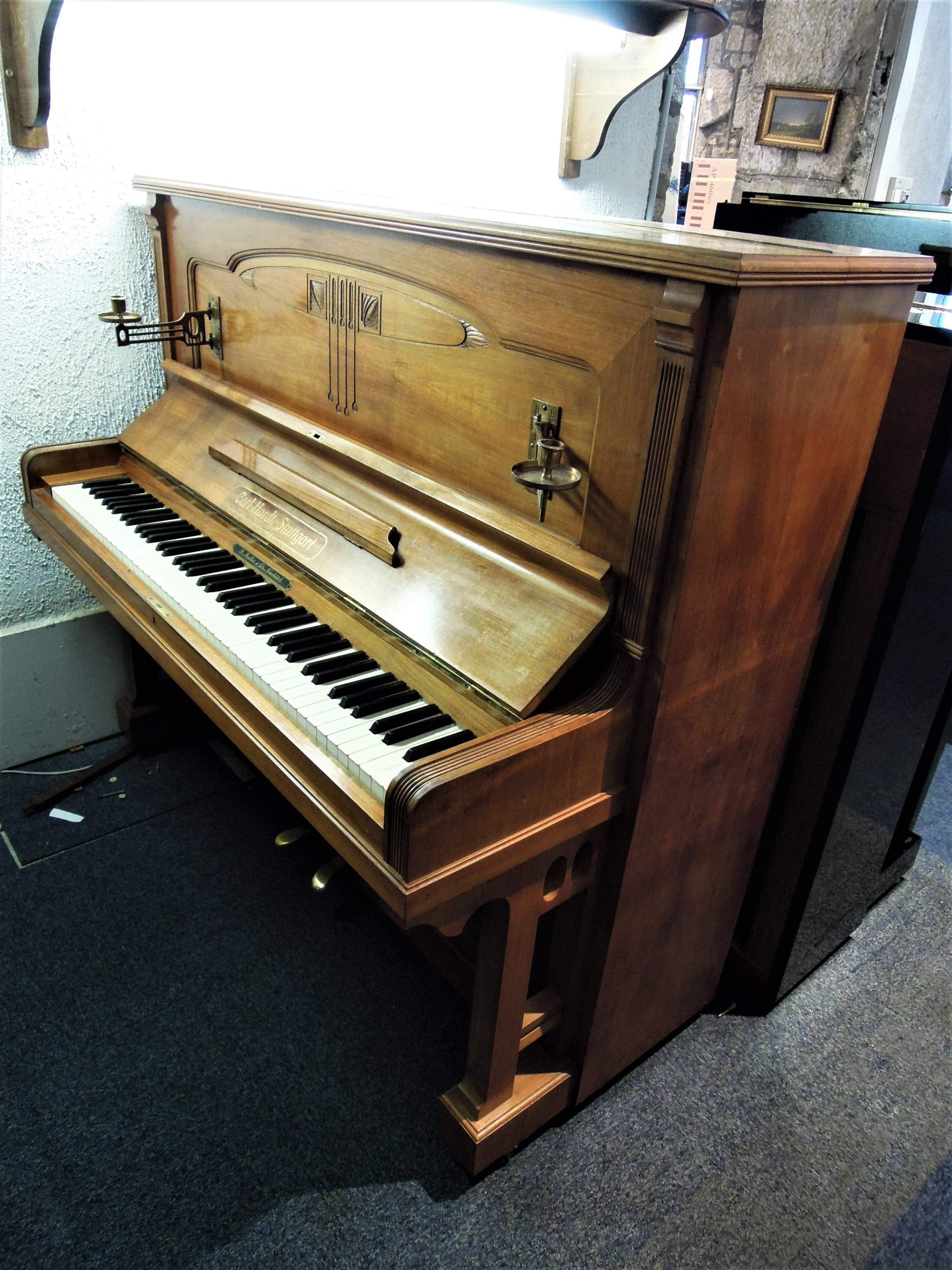 piano droit d 39 occasion carl hardt stuttgart 128 bietry musique. Black Bedroom Furniture Sets. Home Design Ideas
